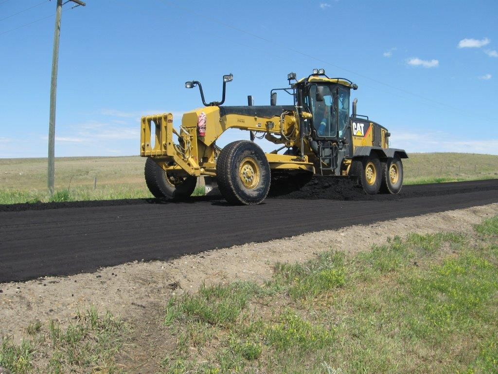 Grader working on Cypress County roads