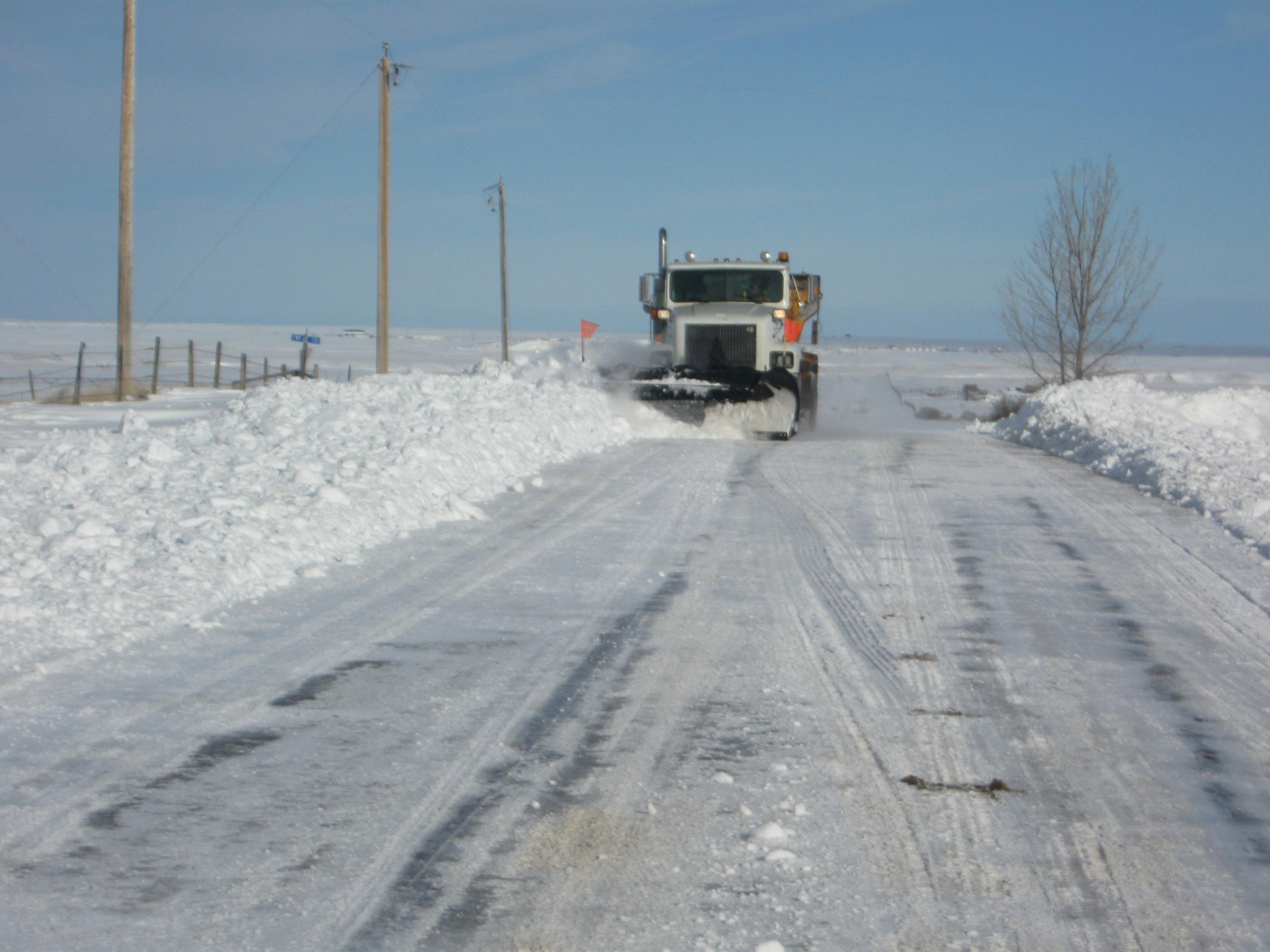 Snowplow in Cypress County